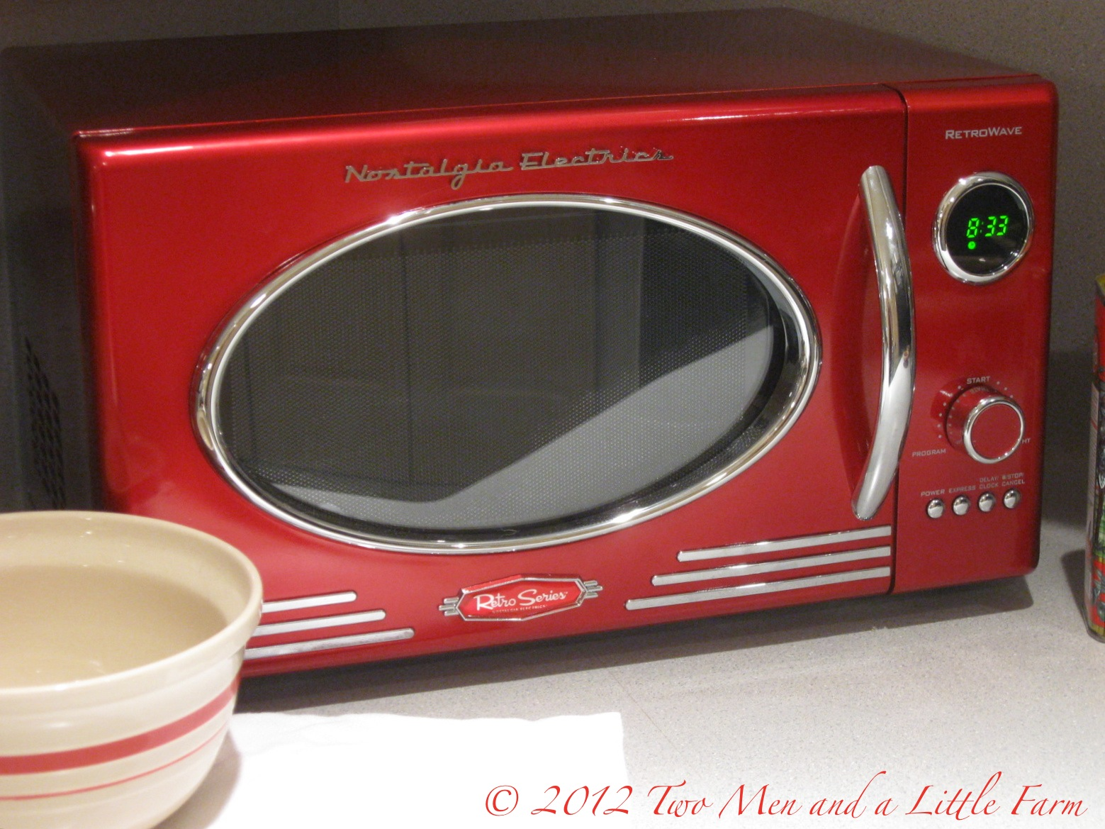 Retro Red Microwave For The Farm