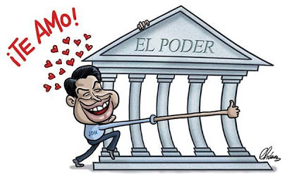 Juan Orlando Hernandez abrazando el poder