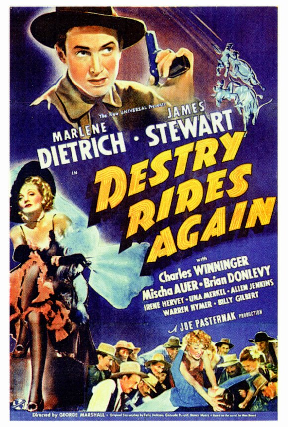 marlene dietrich james destry rides