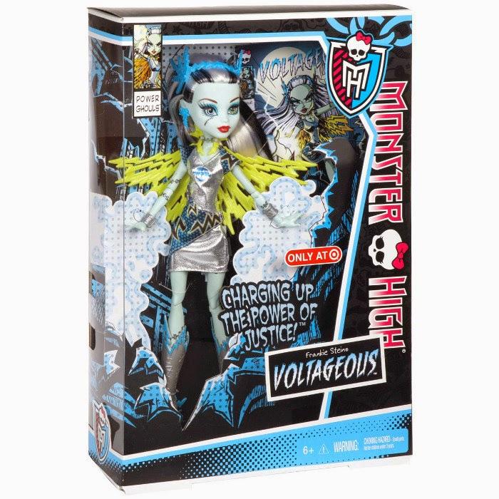 JUGUETES - MONSTER HIGH Power Ghouls Frankie Stein Voltageous | Muñeca  Producto Oficial 2013 | Mattel BBR88 | A partir de 6 años