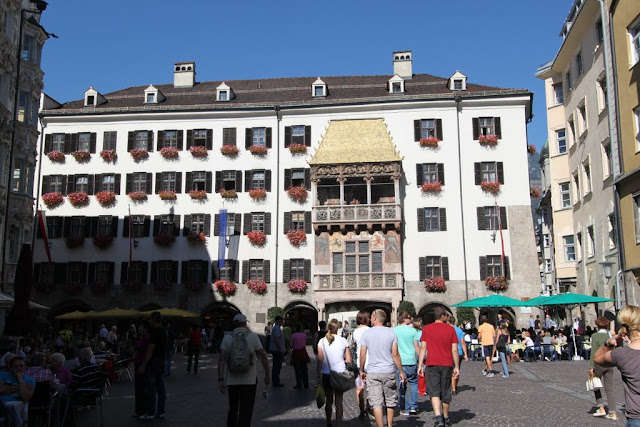 The Golden Roof is the famous landmark in Innsbruck. Austria
