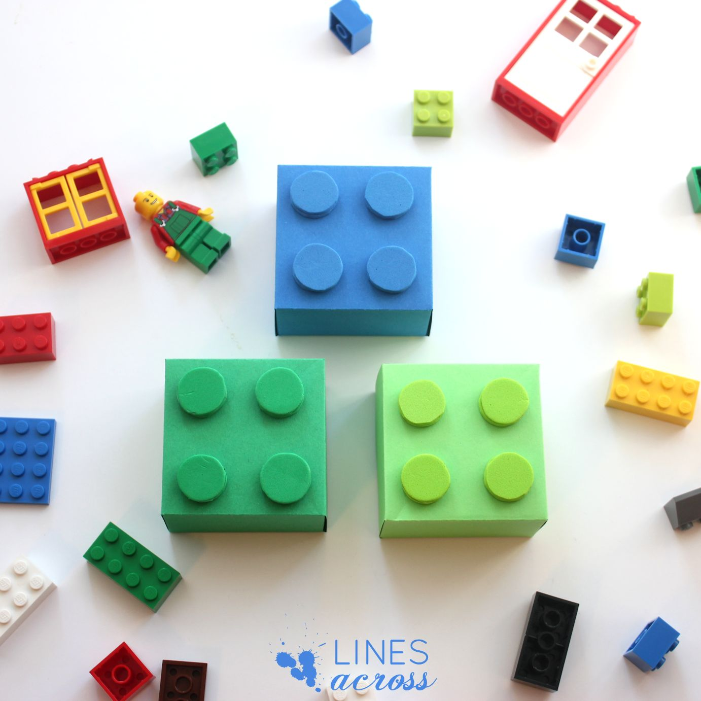 Lego Gift Boxes (With Free Templates) - Lines Across