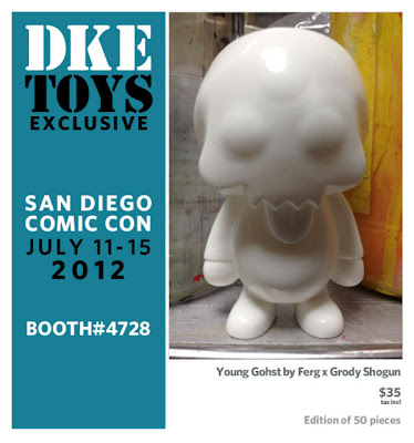 San Diego Comic-Con 2012 Exclusive Ferg x Grody Shogun Unpainted White Young Gohst Vinyl Figure