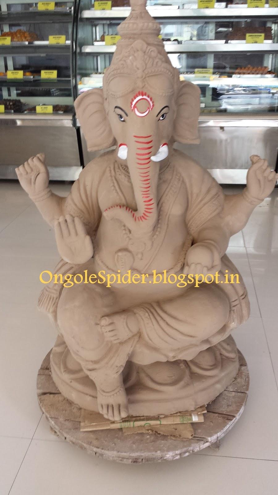 support clay ganesha idols, available at gana sweets, jntu road