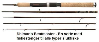 Shimano produserer fiskestenger til de fleste former for sportsfiske og det inkluderer Shimano Beastmaster som egner seg perfekt til slukfiske