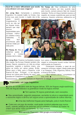 segunda página da primeira edição do folheto Passaporte Esperanto