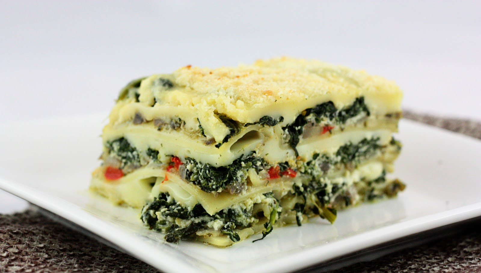 Spinach, Mushroom & Pesto Lasagna From: The Other Side Of Fifty