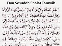 Bacaan Doa Sesudah Shalat Tarawih