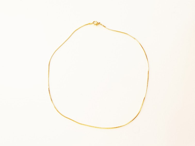 Rings & Tings minimal gold tone chain necklace