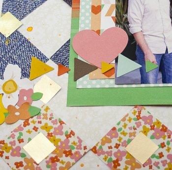 Allie Stewart Chickaniddy Crafts Pinterest Inspired Layout close-up