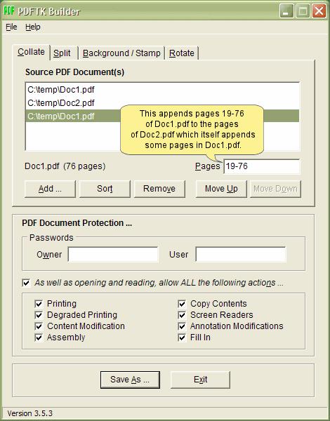 PDFTK Builder offline PDF editor tool