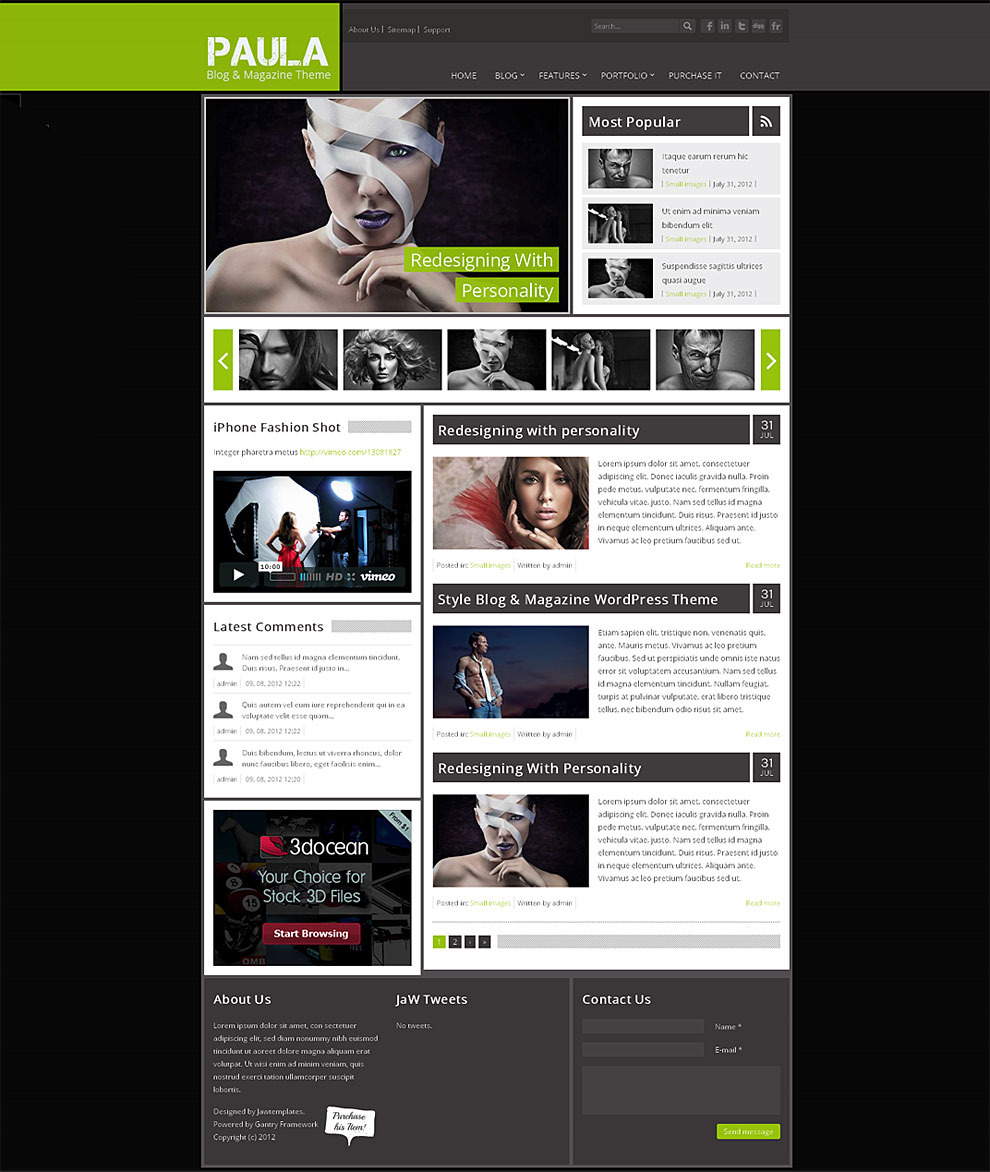 Paula-Blog-and-Magazine-Free-Wordpress-Template