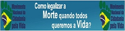 O POVO BRASILEIRO É A FAVOR DA VIDA! CLIQUE E CONFIRA A PESQUISA E DIVULGUE COM SEUS CONTATOS