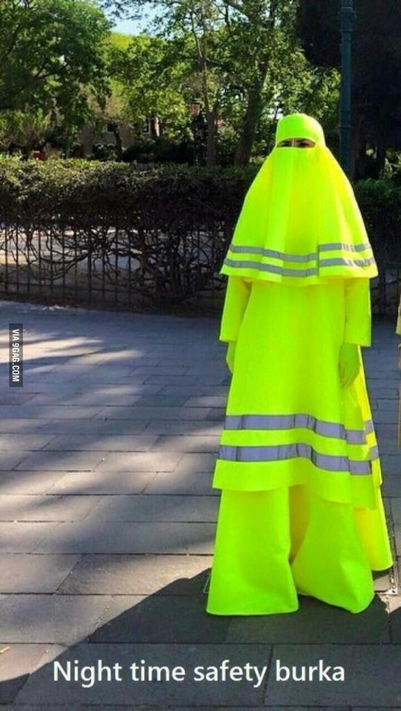 Funny Night Time Safety Burka Meme Islam Religion Picture