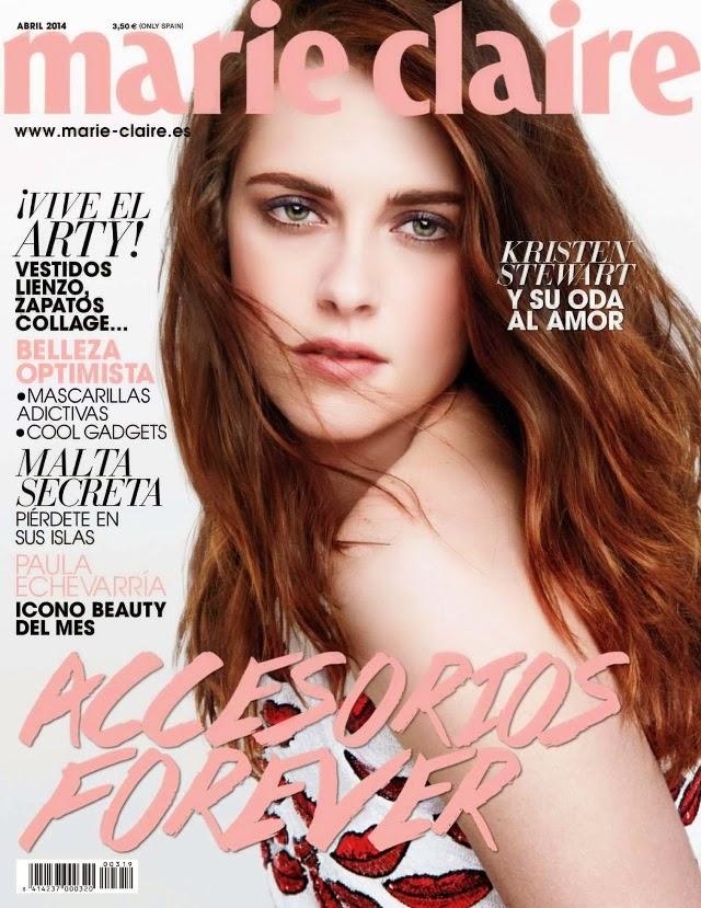 Kristen Stewart portada de la revista Marie Claire abril 2014