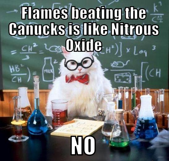 Canucks Flames Memes Chemistry Cat