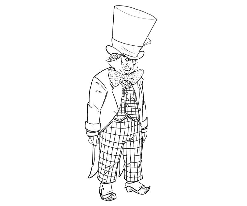 mad hatter coloring pages - photo#29