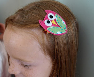 gifts presents for kids: back-to-school owl hair clips tutorial