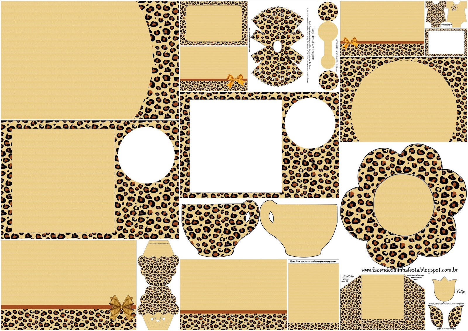 leopard print invitations templates - leopard prints free printable invitations oh my fiesta