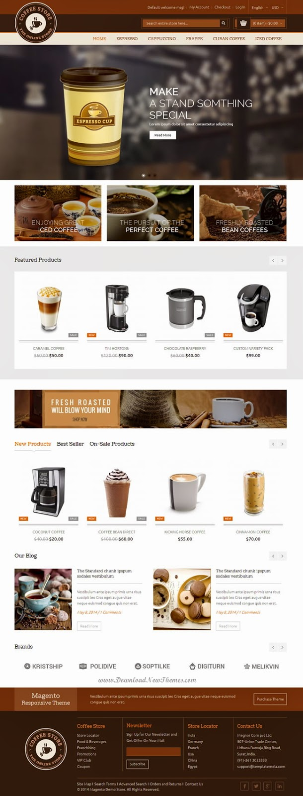 Coffee Magento Responsive Theme