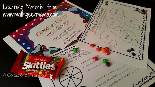 Learning Math with Popsicle Stick : addition of numbers for kindergarten @https://colorsofourrainbow.blogspot.com/