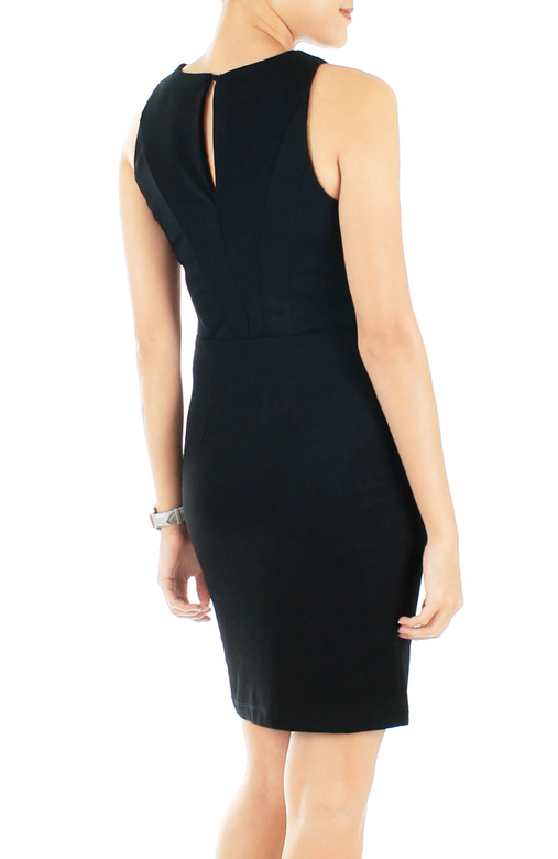 Polished Arrow Dress in Black