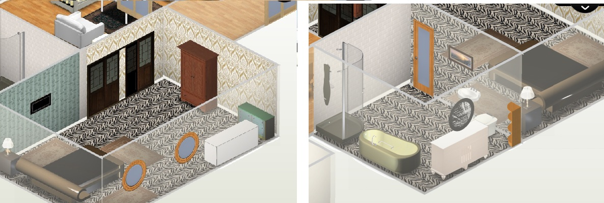 Growing with guidance designing a house for lulu for Room with attached bathroom designs