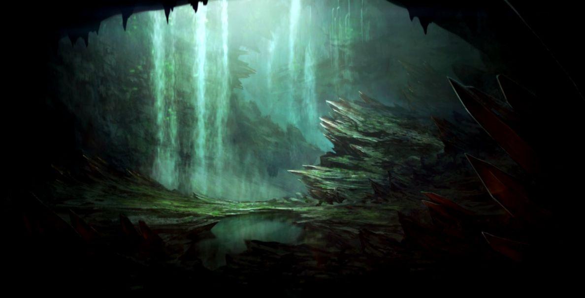 Crystal Pond by  on DeviantArt  Fantasy