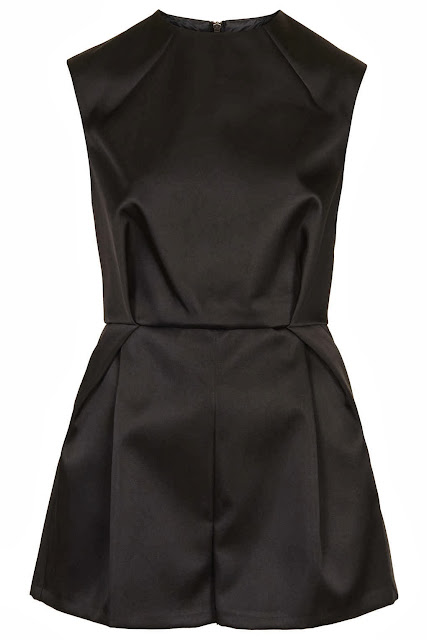 black playsuit topshop