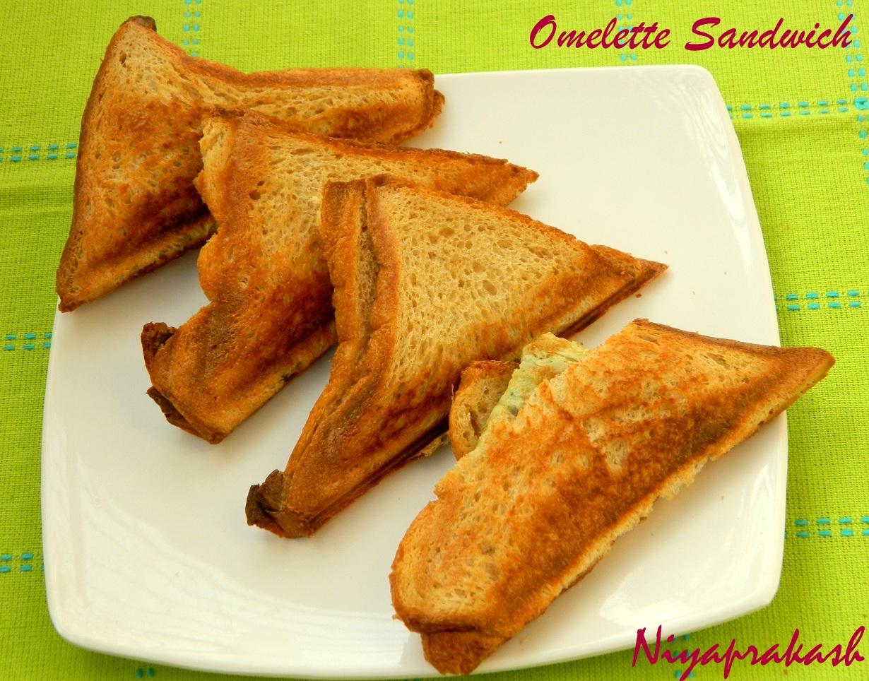 Niya's World: Omelette Sandwich
