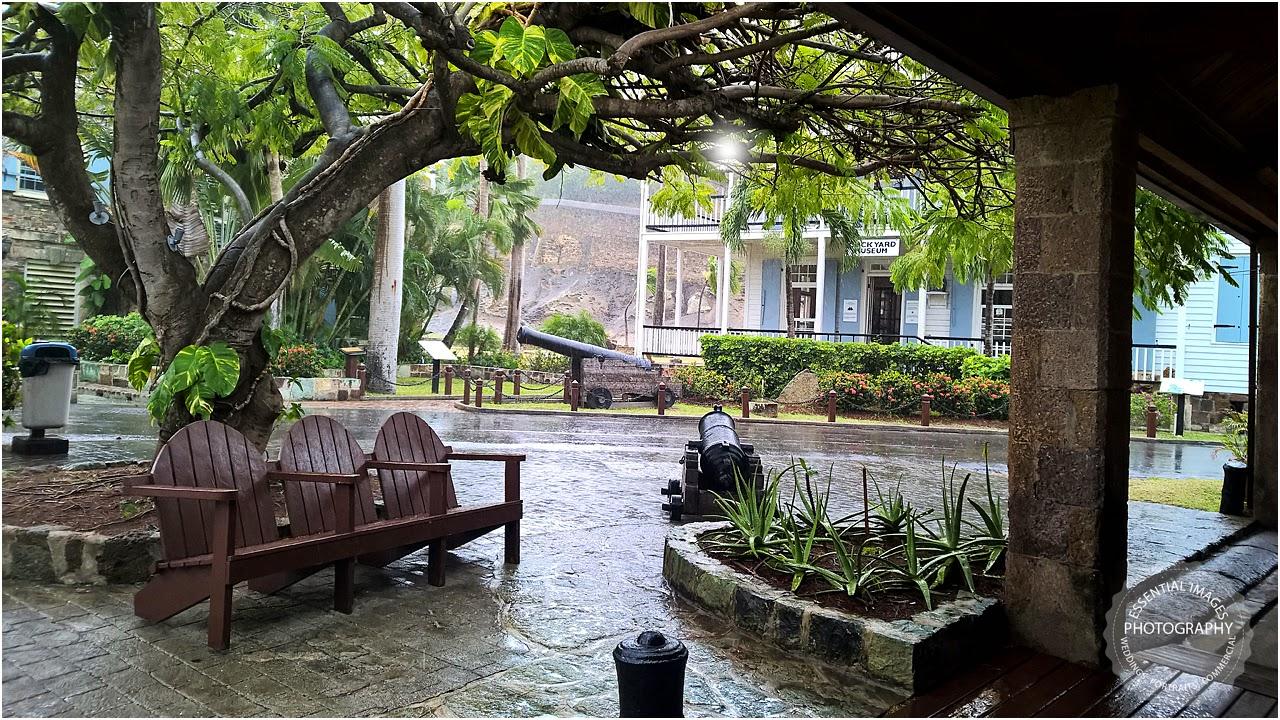 Torrential rain downpour in English Harbour