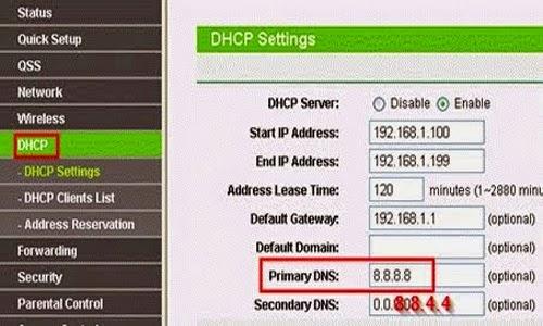 Cách Thay Đổi DNS Google Trên Moderm 4