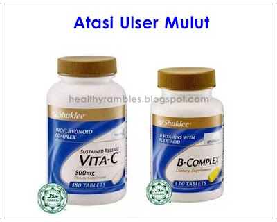 Set Ulser Mulut Shaklee - Sustained Release Vita-C Plus dan B-Complex