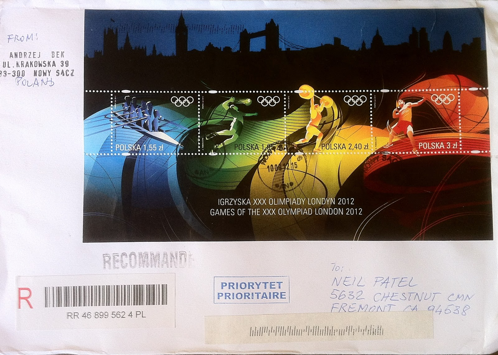 u s a postman xxx olympic games london 2012 stamps cover. Black Bedroom Furniture Sets. Home Design Ideas