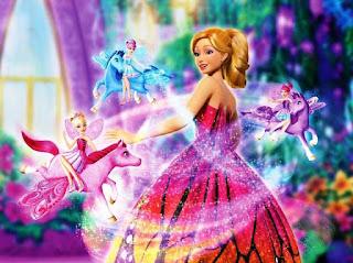 Gambar wallpaper keren Barbie Mariposa