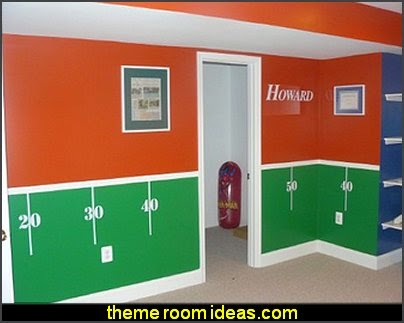 Football Field Wall Decal Kit Sports Bedroom Decorating Ideas