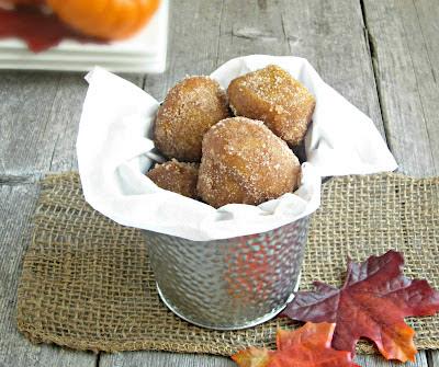 Baked Pumpkin Doughnut Holes