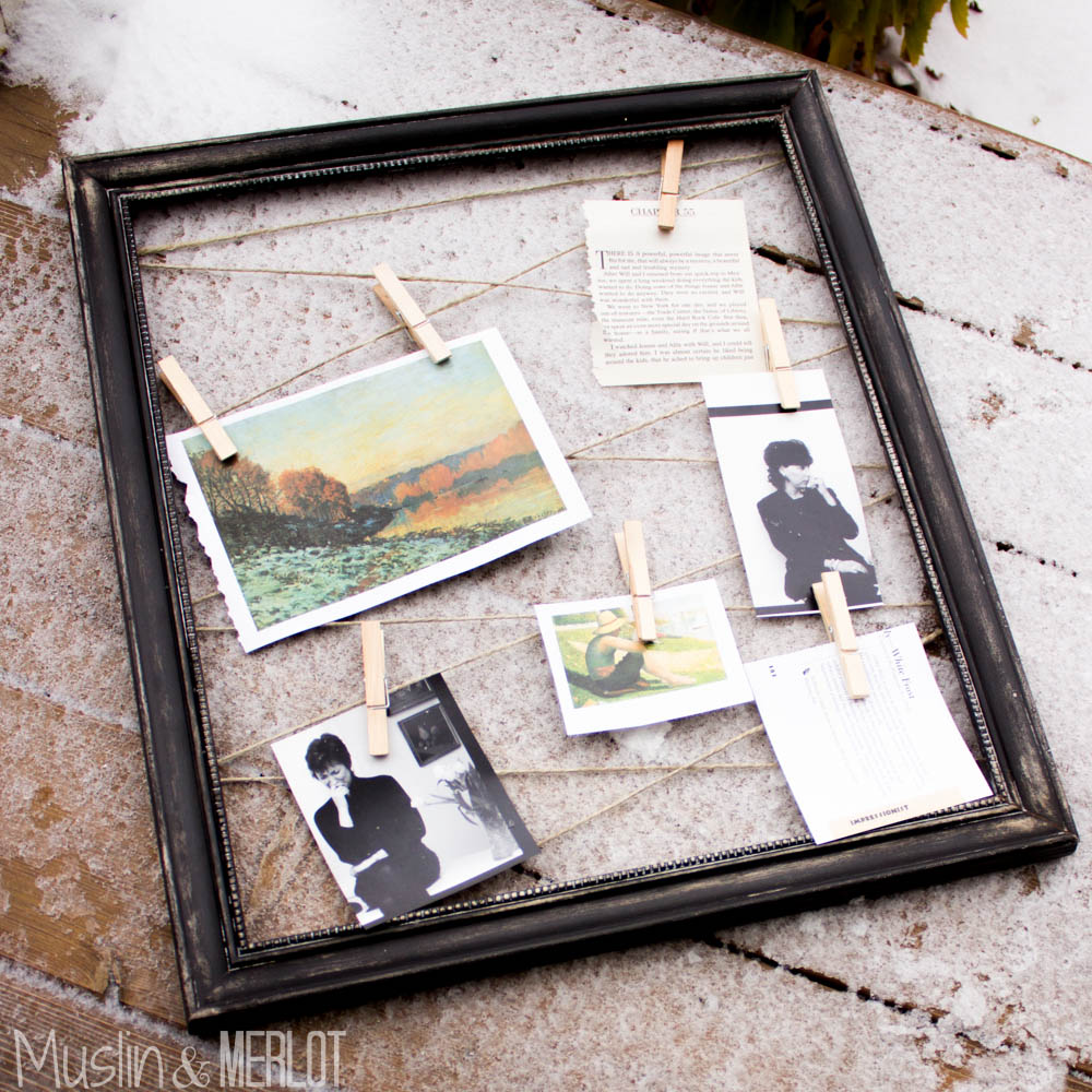 DIY Frame & Hemp Photo Board! - Muslin and Merlot