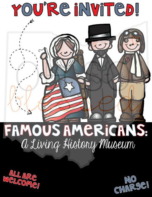 Famous Americans Museum Invite
