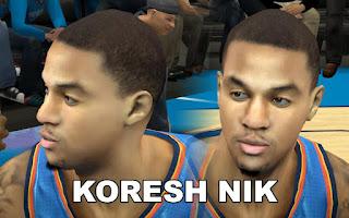 NBA 2K13 Mods - OKC Eric Maynor Cyberface Mods
