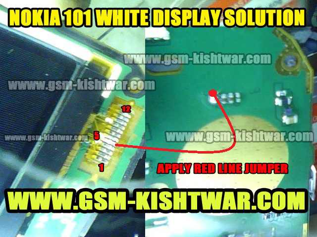 Nokia 101 display problem, White display, Display solution, Display ways.