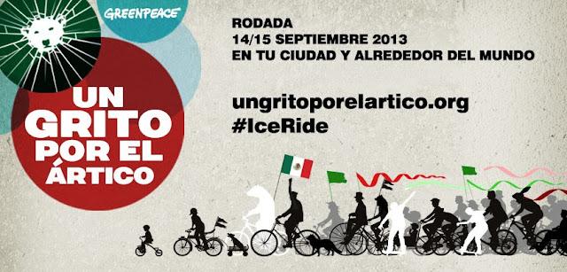 En bicicleta por la Ciudad de México para dar el Grito por el Ártico #IceRide