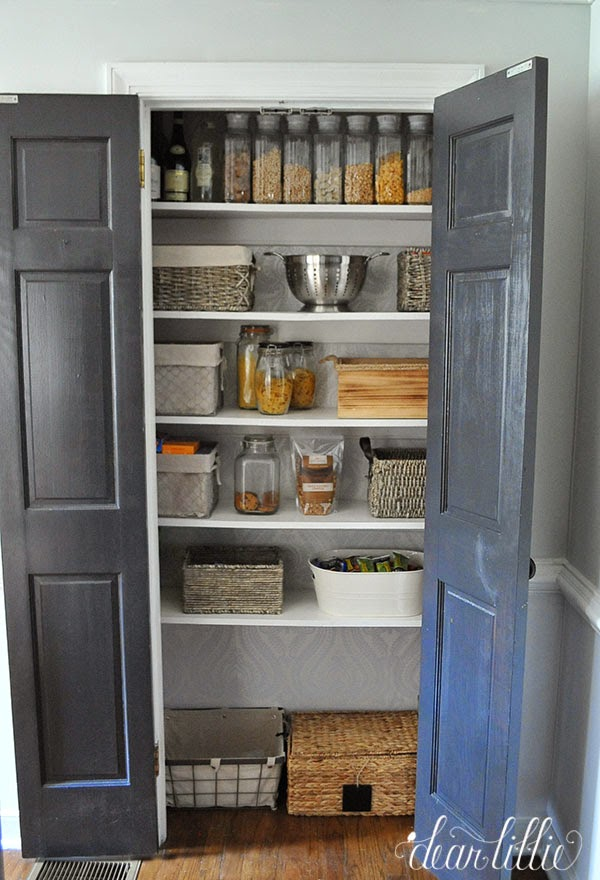 Dear Lillie Wallpapering The Pantry