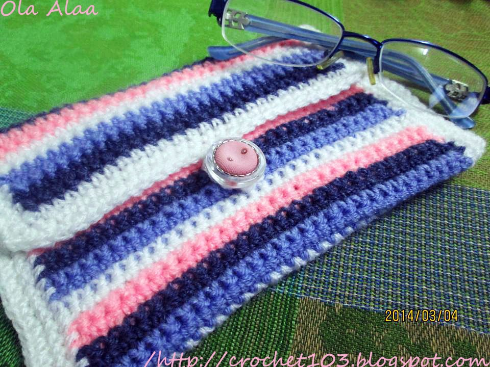 Free Crochet Pattern Eyeglass Case : Crochet: crochet glasses case