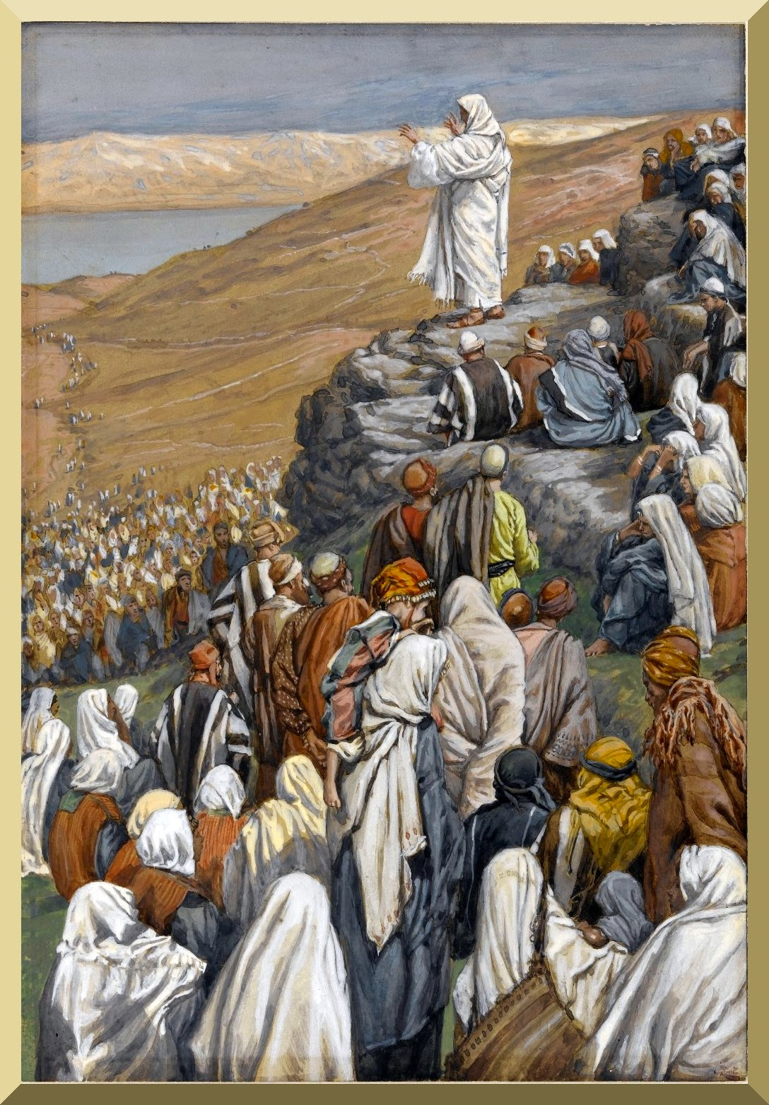 """The Sermon of the Beatitudes"" -- by James Tissot"