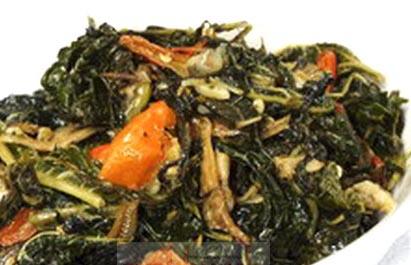 sayur tumis daun pepaya bahan 150 gram daun pepaya muda