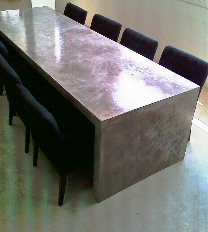 mesa comedor microcemento