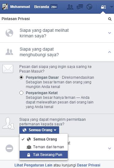 Membuat Facebook Tidak Bisa Di Add