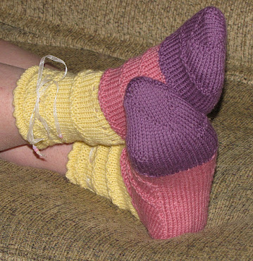 Emma Bed Socks Pattern