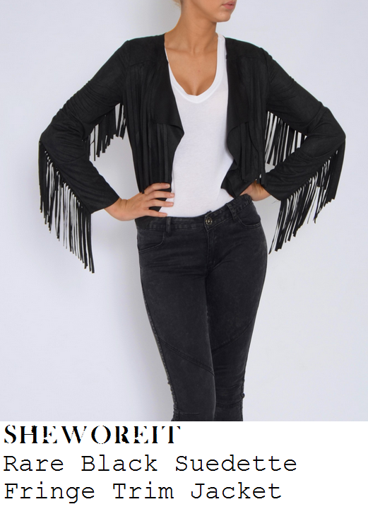 jessica-wright-black-faux-suede-fringe-tassle-cropped-jacket